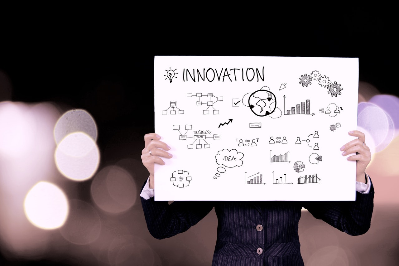 inovation/ideas on white paper