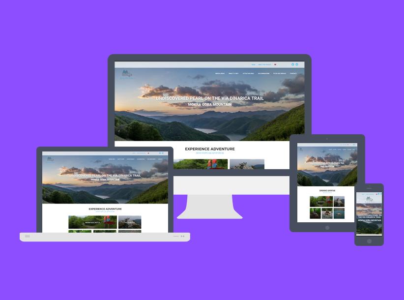 mokra gora website responsive web design
