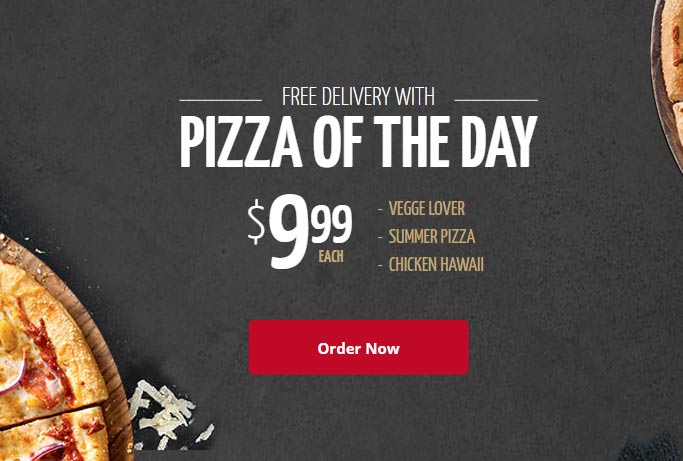 clean and modern pizza website