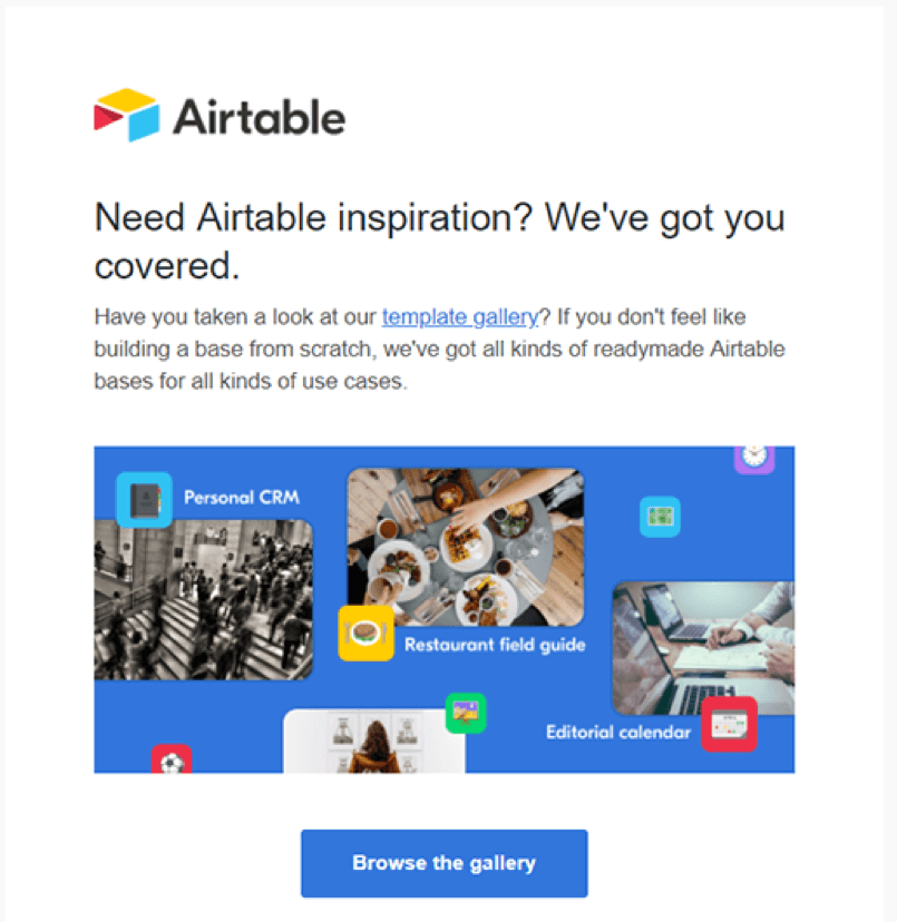 great example of email marketing campaign