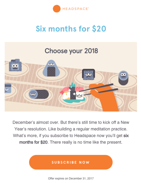 headspace email marketing