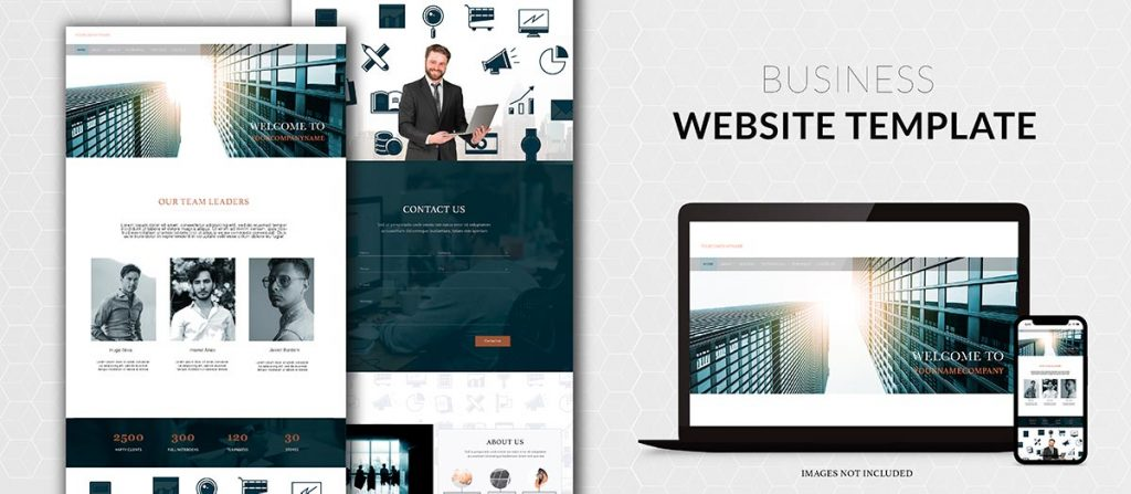 business website template example