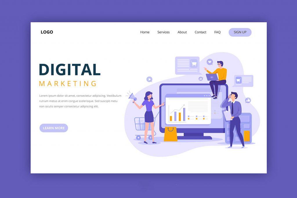 digital marketing website example