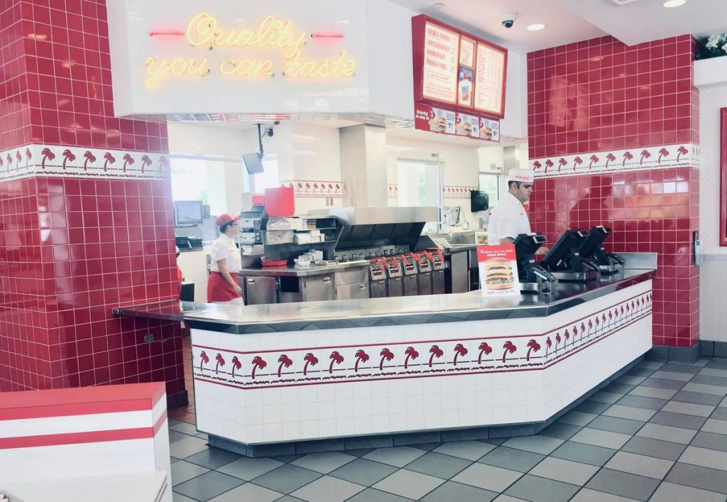 marketing interior of in n out