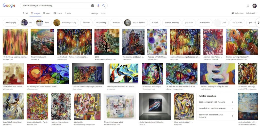 abstract images with meaning