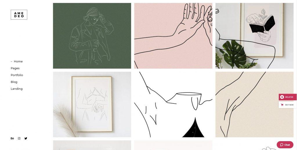 the portfolio gallery amedeo theme