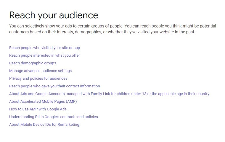 reach your audience over google ads