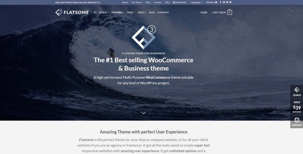 flatsome woocommerce and business theme