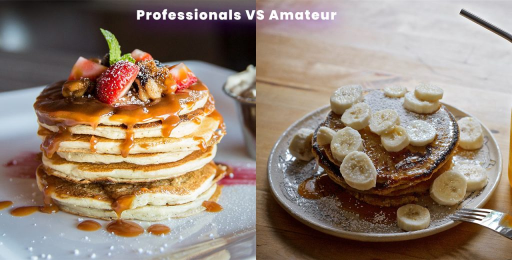 professional vs amateur photo