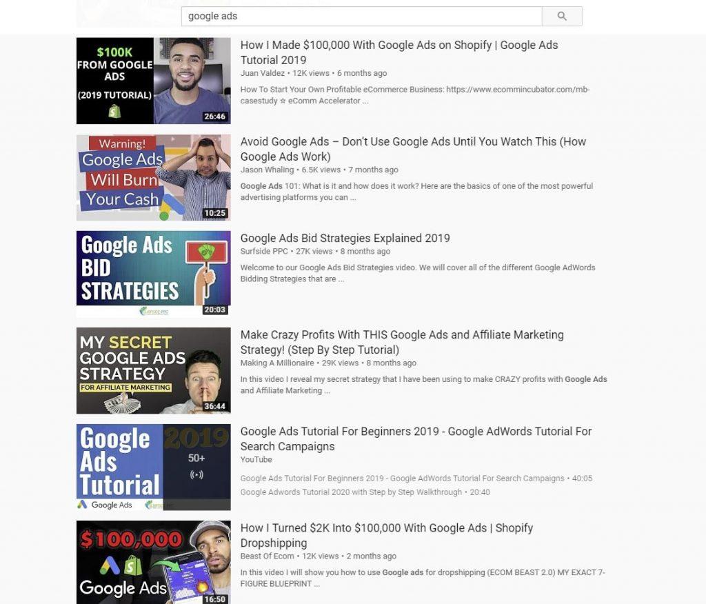 google ads on youtube