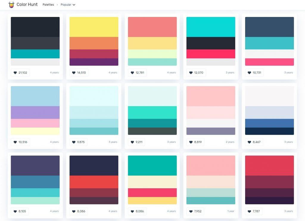 colorhunt.co popular colors