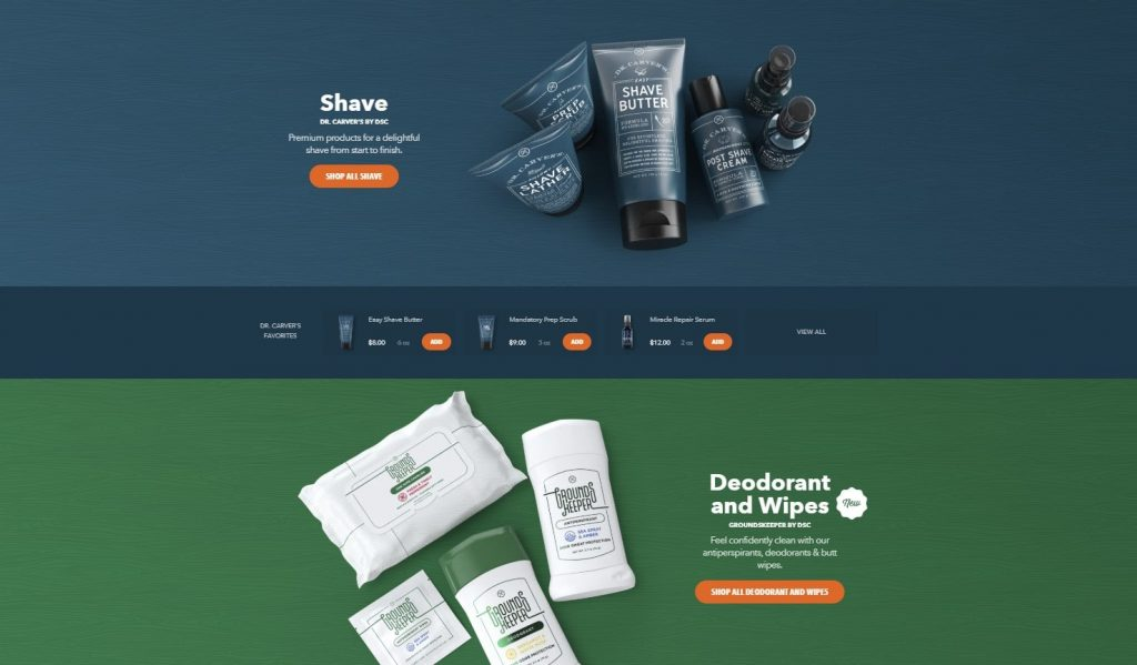 The Dollar Shave Club - product page design