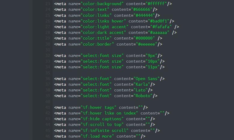 metadata - meta tags - metadata in code - meta tags in code