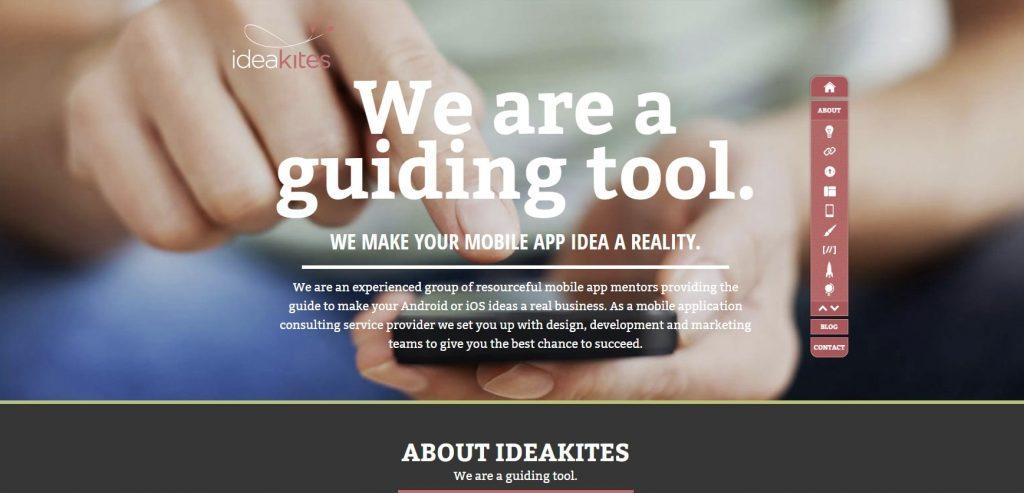 ideakites homepage - shadows on ideakites - blur on ideakites
