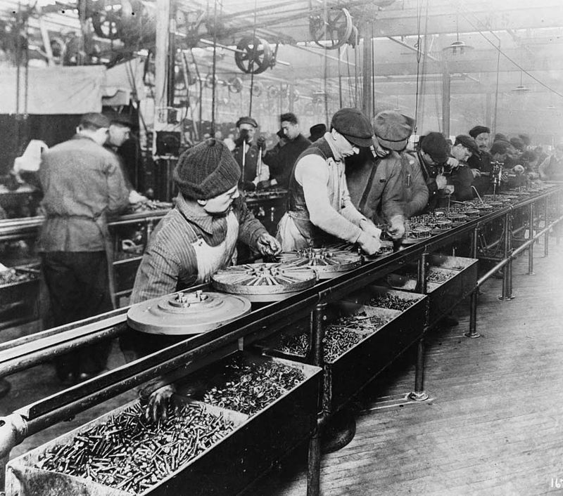production marketing concept - henry ford assembly line