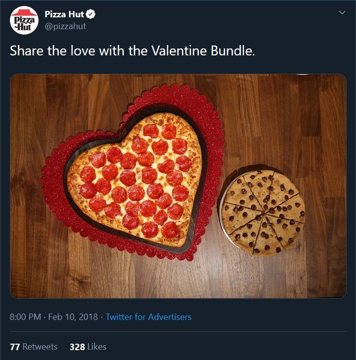 pizza hut marketing campaign for valentine day