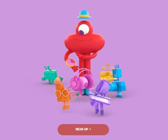 the Toggl homepage unique design - website design