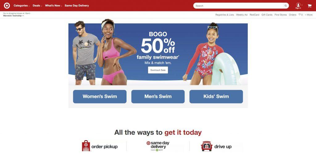 target's new website
