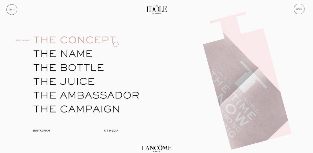 The Lancôme homepage