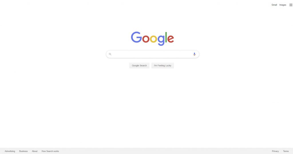 white space on google search engine