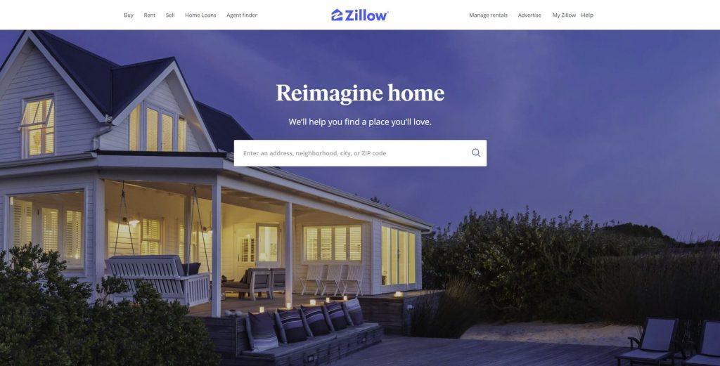 award winning website zillow