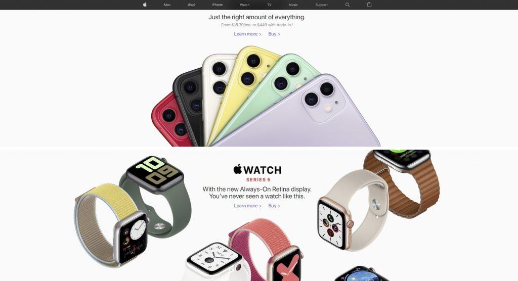 apple homepage is award winning homepage