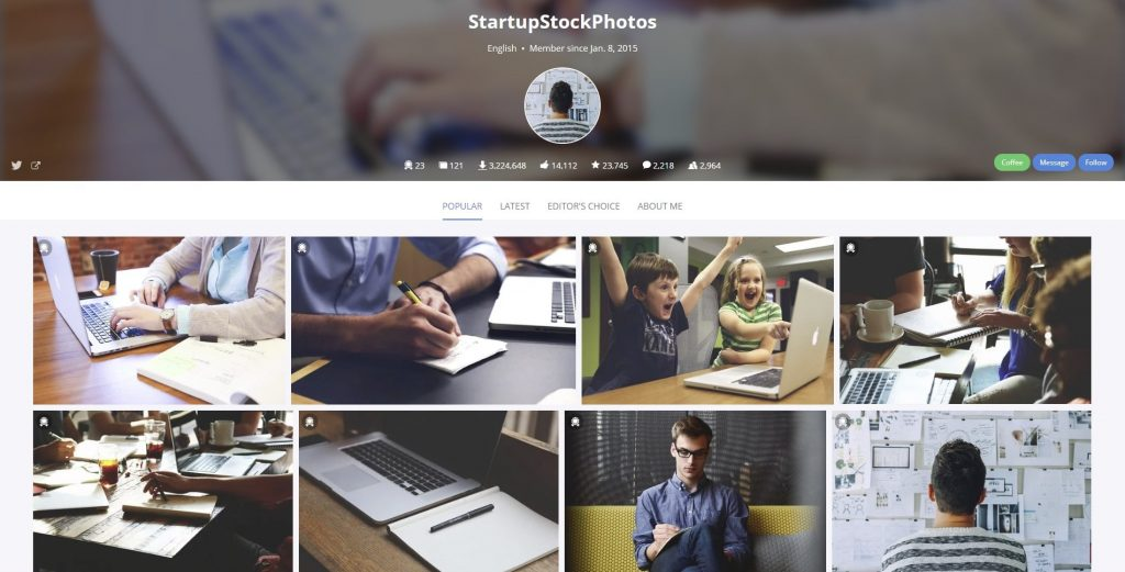photos for better click through rate