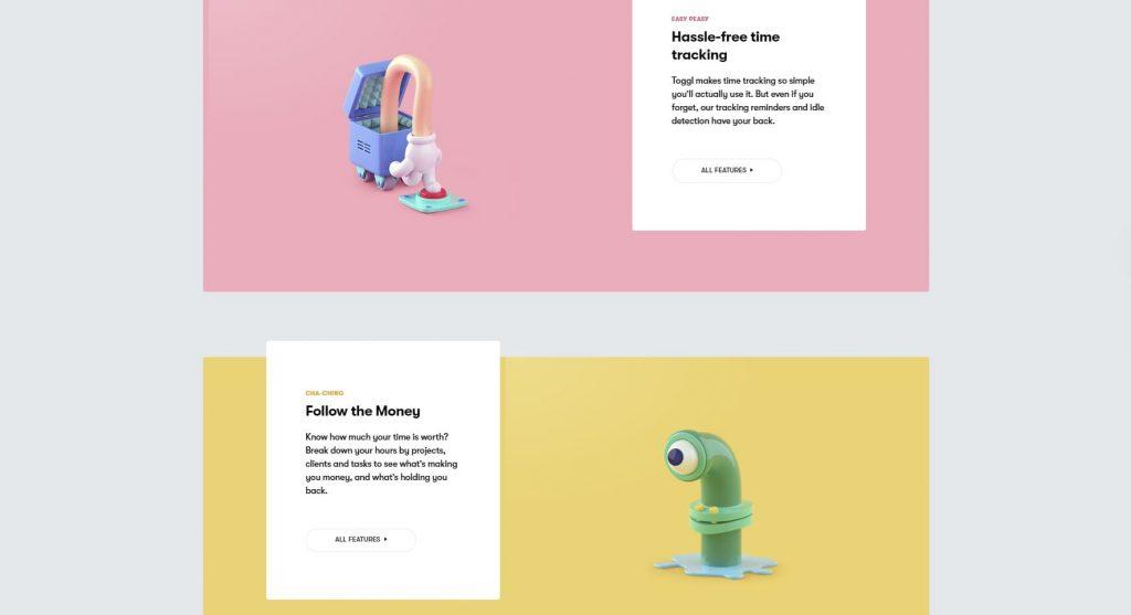 toggle homepage website design 2