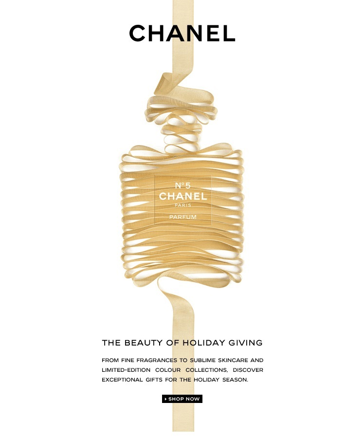 chanel email marketing - chanel email design