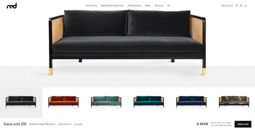 red edition website design