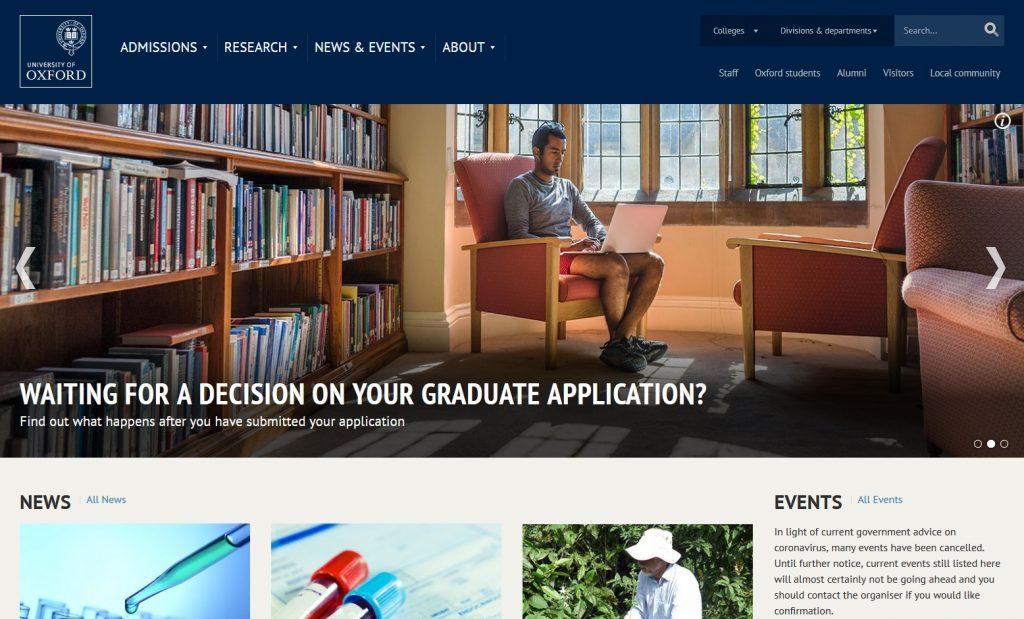 oxford university website