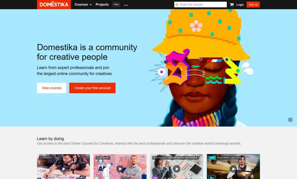 domestika homepage