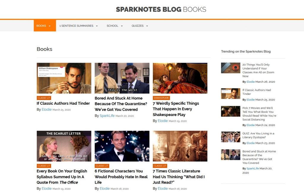 the sparknotes blog