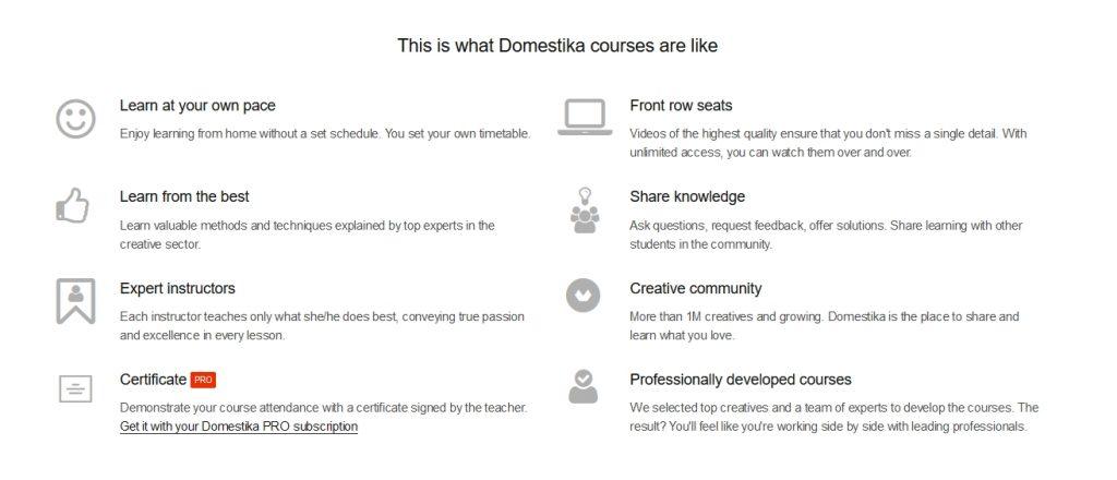 education courses webpage