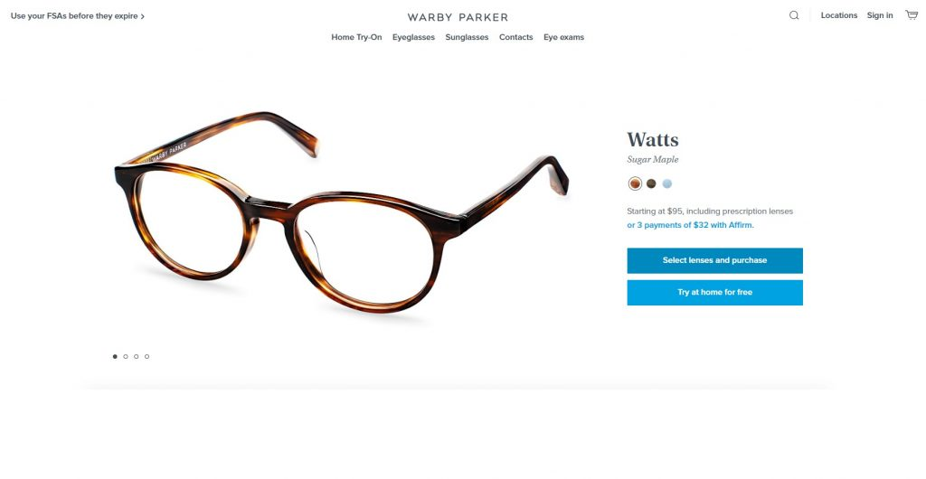 great image example for product page - great product page example - product page with great cta