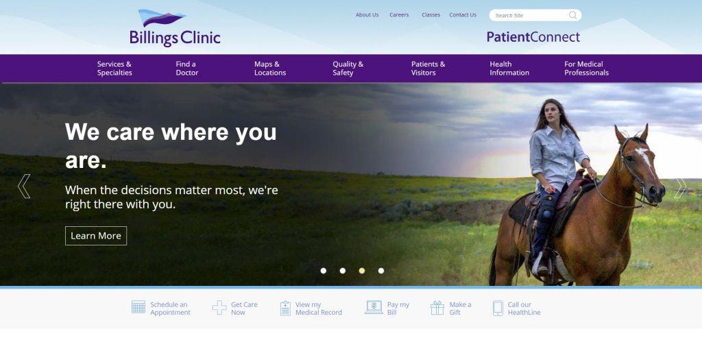 The Billings Clinic website