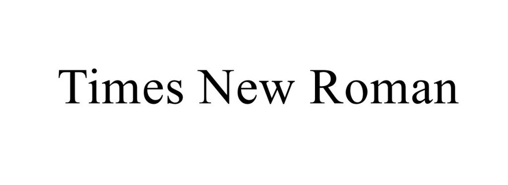 transitional serif font - times new roman font