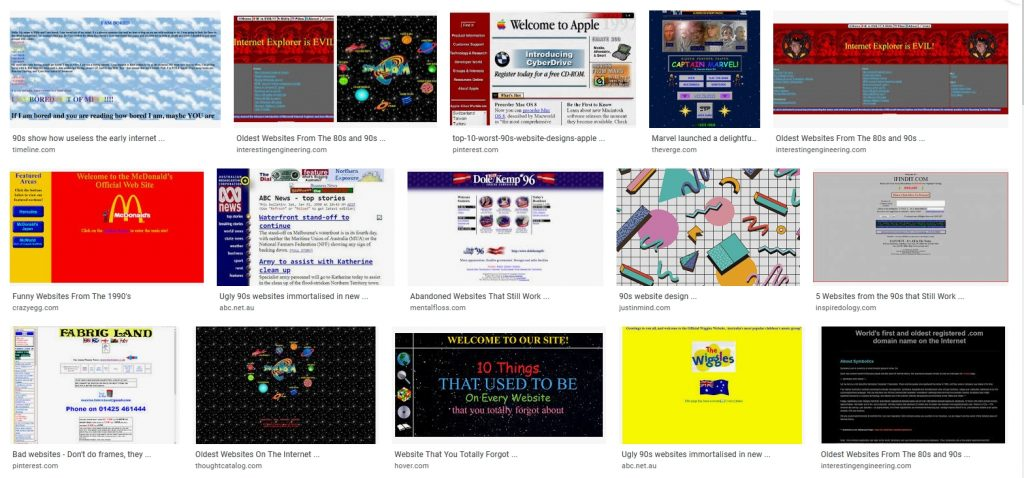 the Google search for '90s websites - google search 90s websites