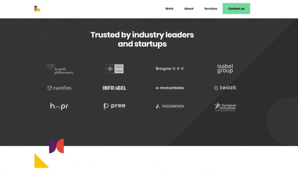 recency effect on a landing page - recency effect web design footer - footer of superlab website