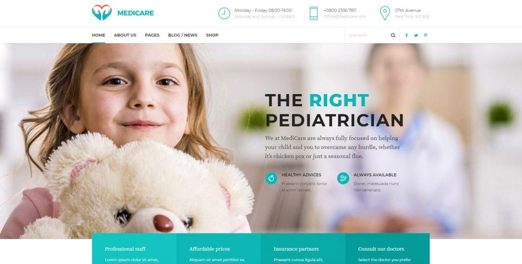 private clinic website design - private clinic website