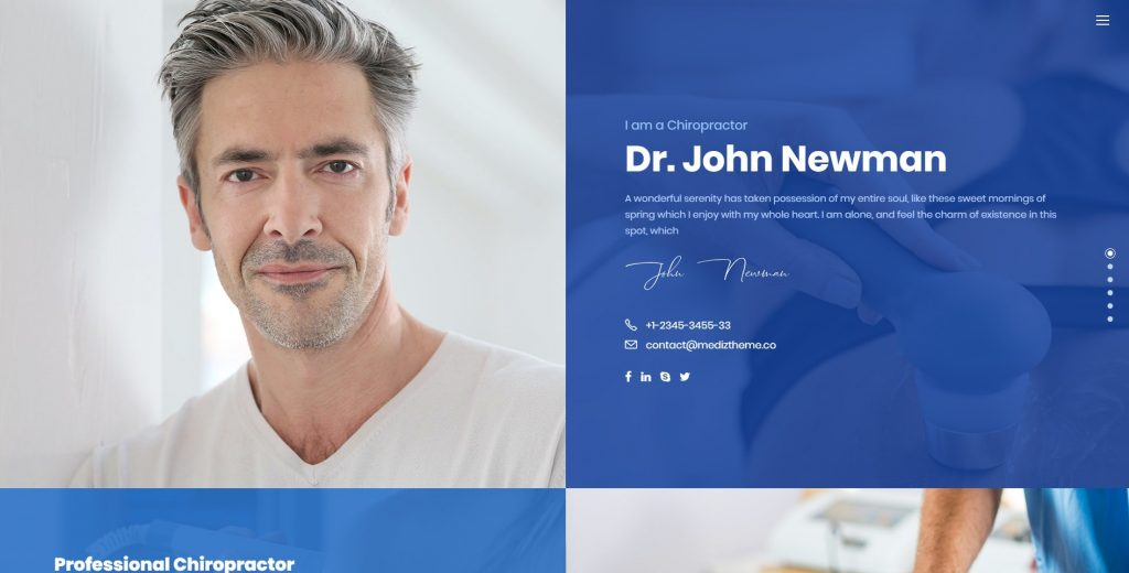 good use of title private clinic website - private clinic website design