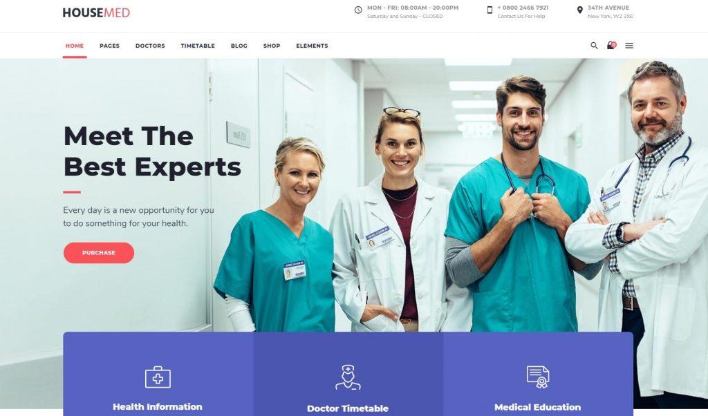 footer design website - footer clinic website - footer design for hospital website