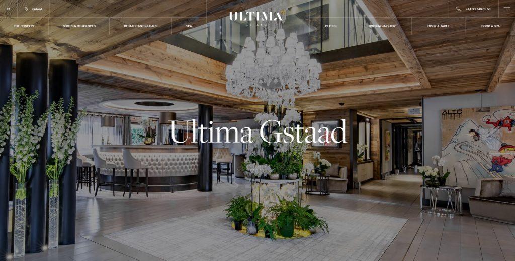 luxury hotel website design - luxury hotel web design example