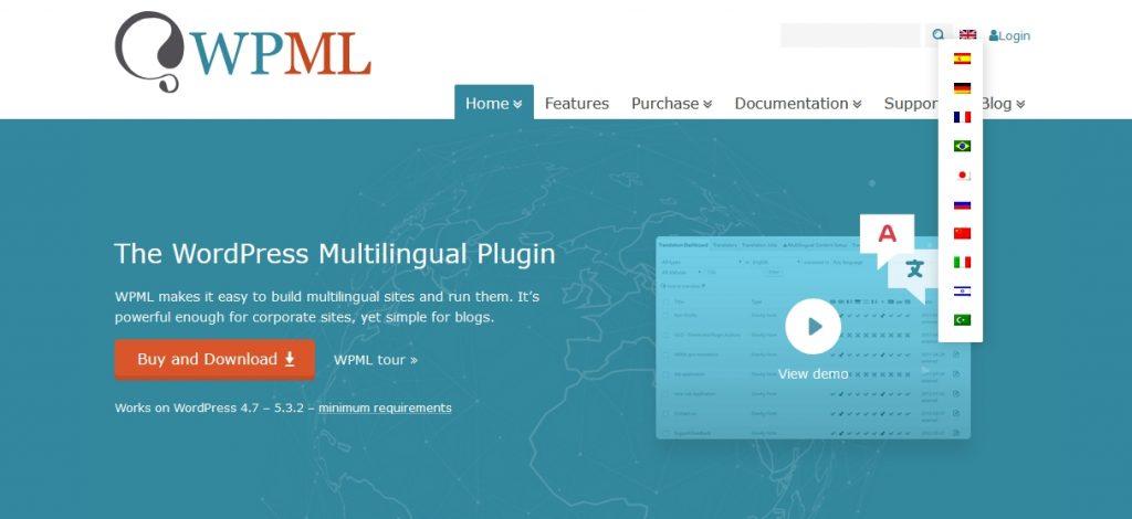 the flag language option menu - flag language option on multilingual websites