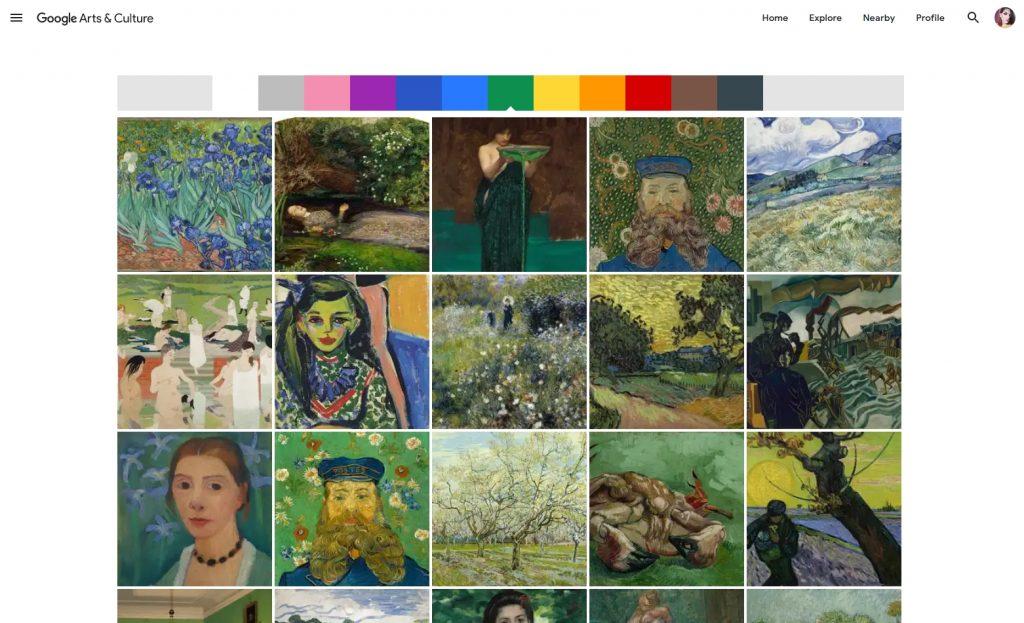 the google color explorer