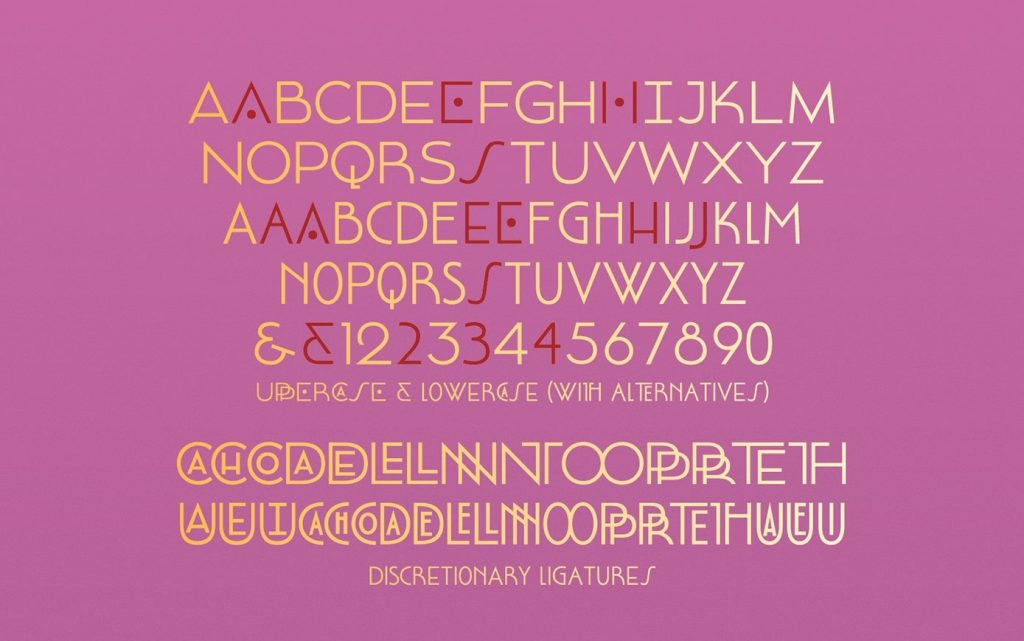 art deco inspired grotesque font