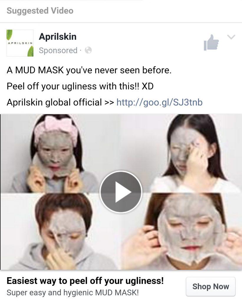 facebook ad example - facebook ad