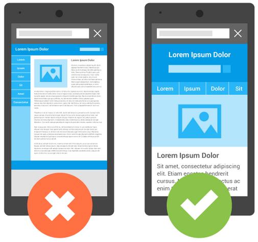 mobile friendly vs mobile unfriendly website