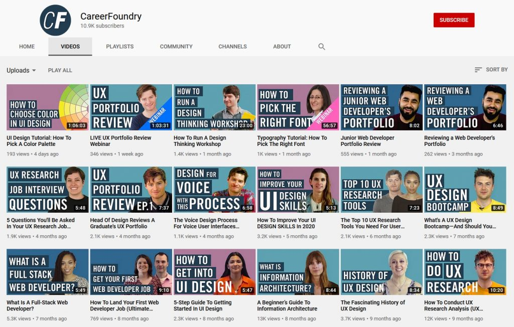 learn about ux on youtube