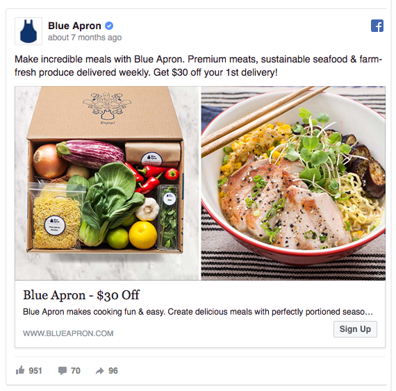 facebook ads campaign example